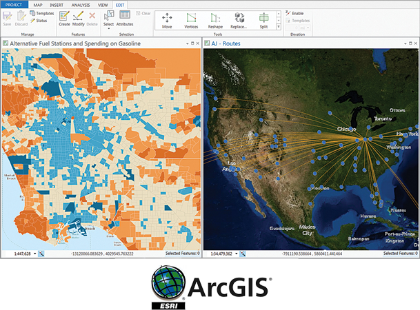 Arcgis provide you option to make and share beautiful maps and it's a scalable and secure software hosted by Esri
